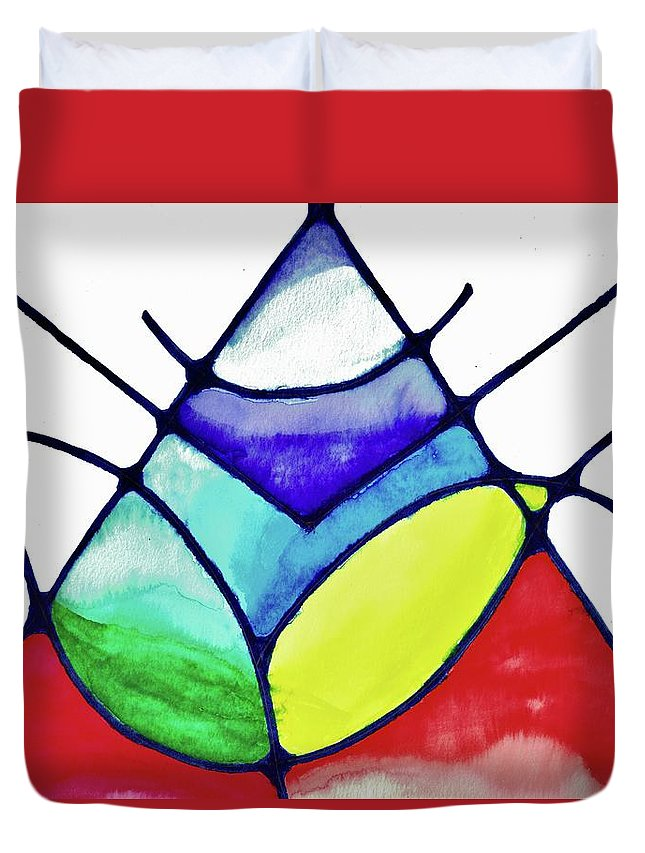 Abstract Duvet Cover featuring the painting Ascension by Della McGee