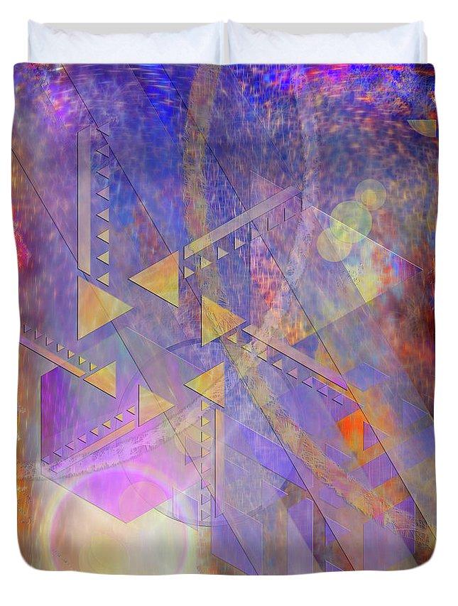 Aurora Aperture Duvet Cover featuring the digital art Aurora Aperture by John Robert Beck