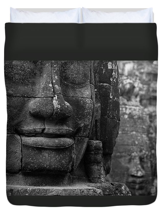 Bayon Duvet Cover featuring the photograph Bayon Temple - Angkor by Patrick Klauss