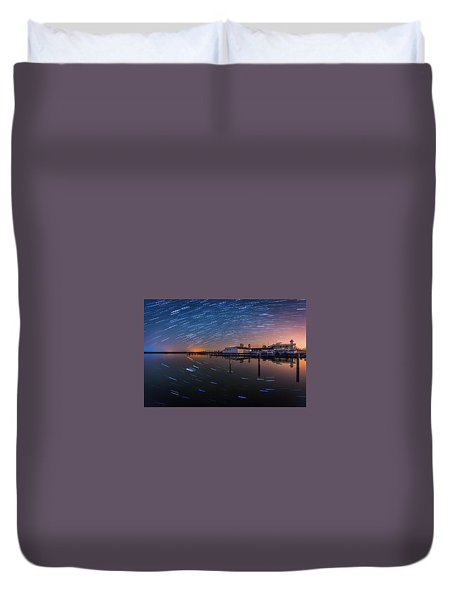 Austria Duvet Cover featuring the photograph Beyond Us by Jerzy Bin