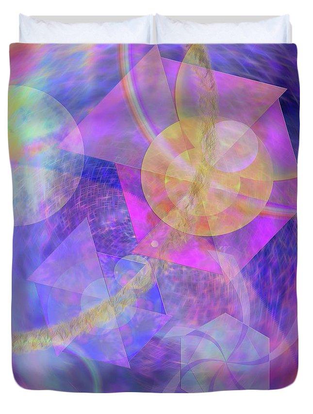 Blue Expectations Duvet Cover featuring the digital art Blue Expectations by John Robert Beck