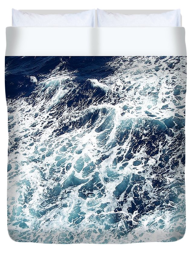 Waves Duvet Cover featuring the photograph Caribbean Waves by Michelle Miron-Rebbe