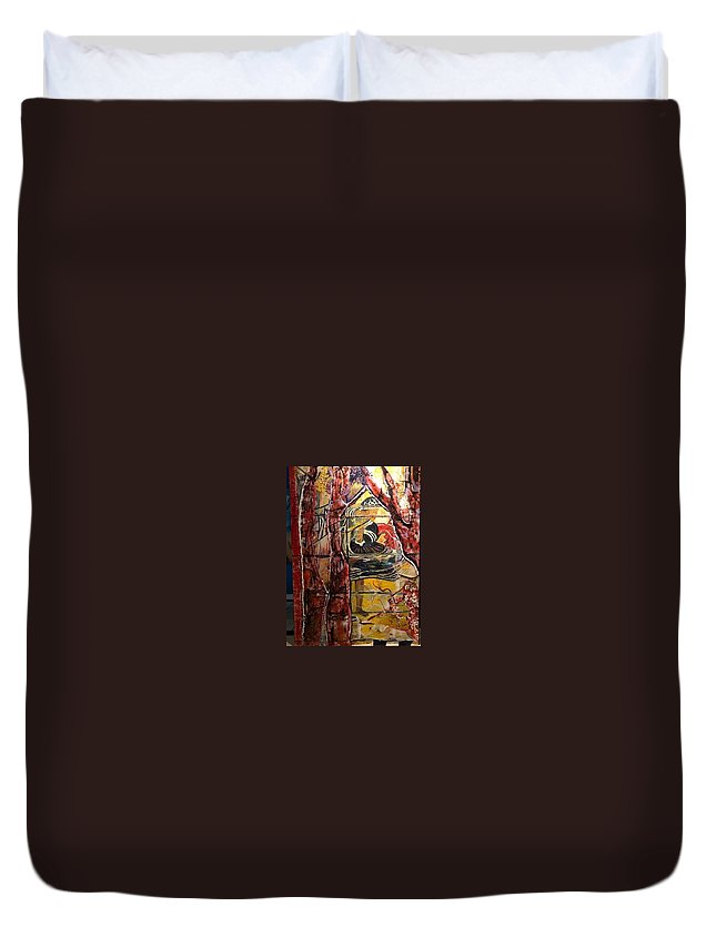 Dancing Duvet Cover featuring the painting Celebration by Peggy Blood