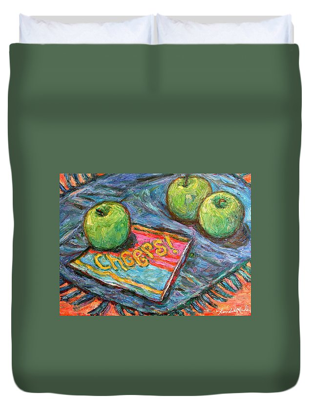Still Life Duvet Cover featuring the painting Cheers by Kendall Kessler