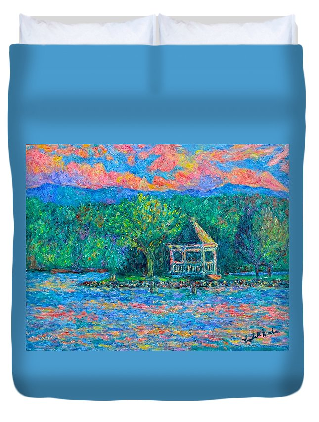 Lake Duvet Cover featuring the painting Claytor Lake Memory by Kendall Kessler
