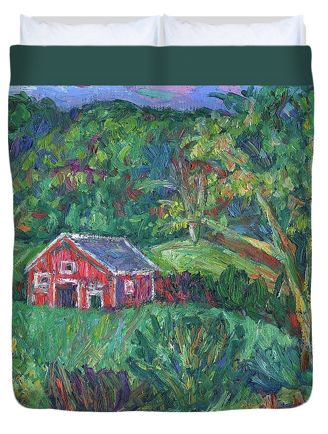 Rural Duvet Cover featuring the painting Clover Hollow in Giles County by Kendall Kessler