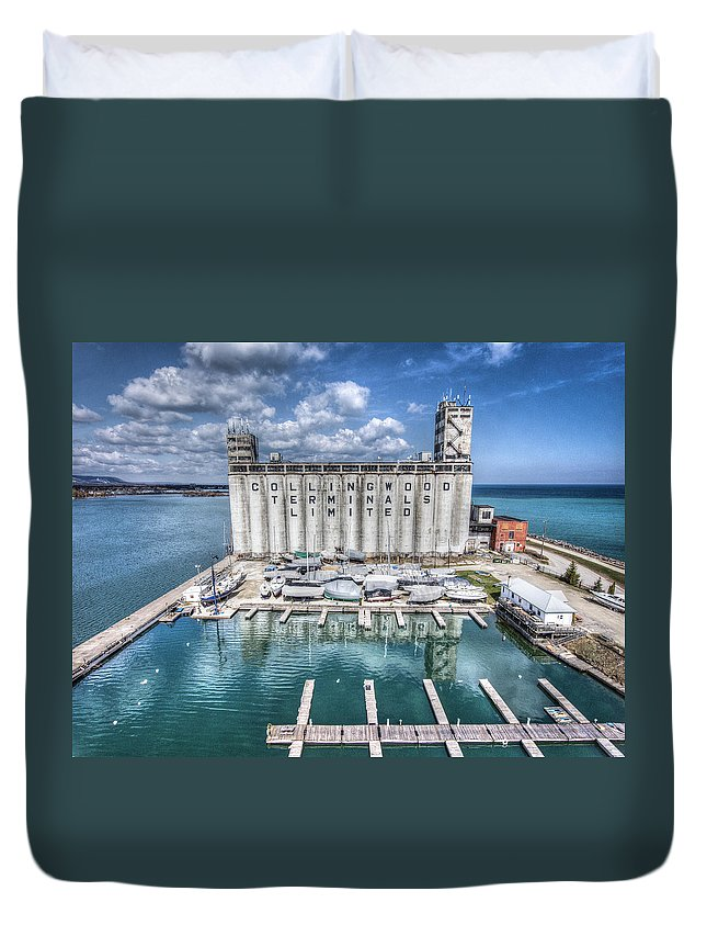 Collingwood Duvet Cover featuring the photograph Collingwood Terminals by Eden Watt