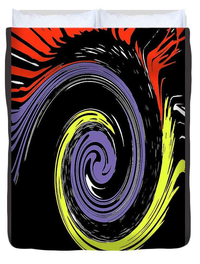 Abstract Duvet Cover featuring the photograph Colorful Swirl by Holly Morris