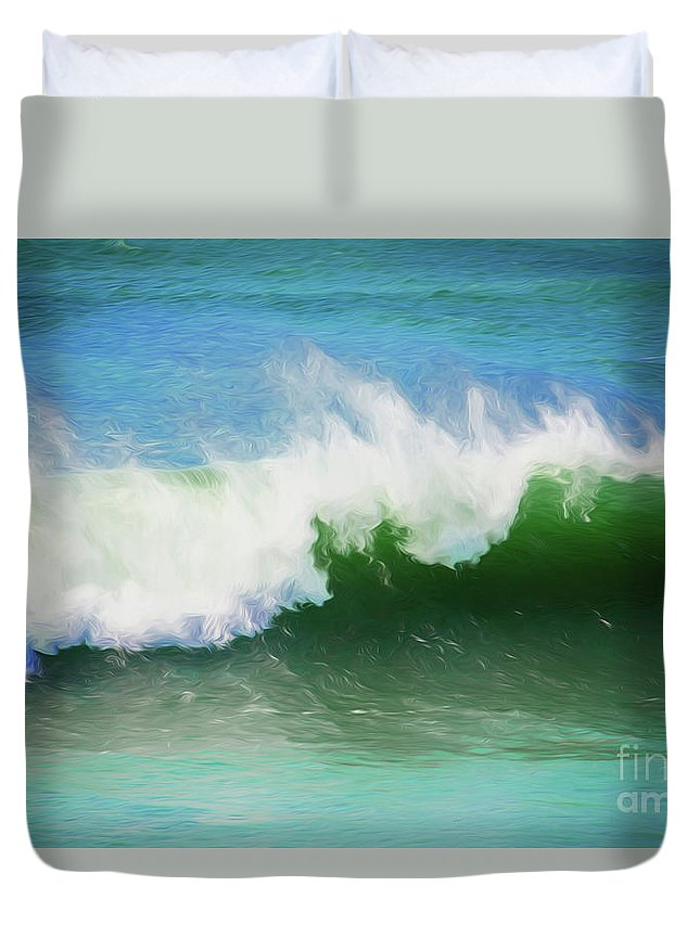 Surf Duvet Cover featuring the photograph Crashing surf by Sheila Smart Fine Art Photography