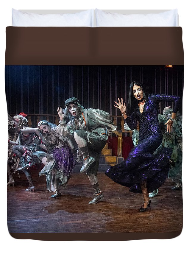 Adams Family Duvet Cover featuring the photograph Dance With The Relatives by Alan D Smith
