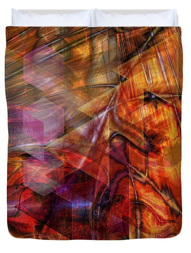 Deguello Sunrise Duvet Cover featuring the digital art Deguello Sunrise by John Robert Beck