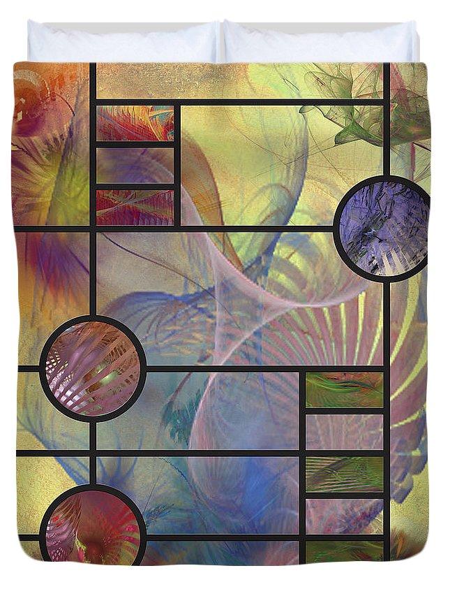 Frank Lloyd Wright Duvet Cover featuring the digital art Desert Blossoms by John Robert Beck