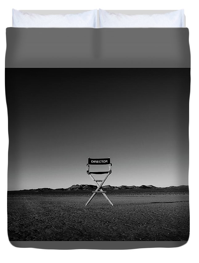Duvet Cover featuring the photograph Director's Cut by Brendan North