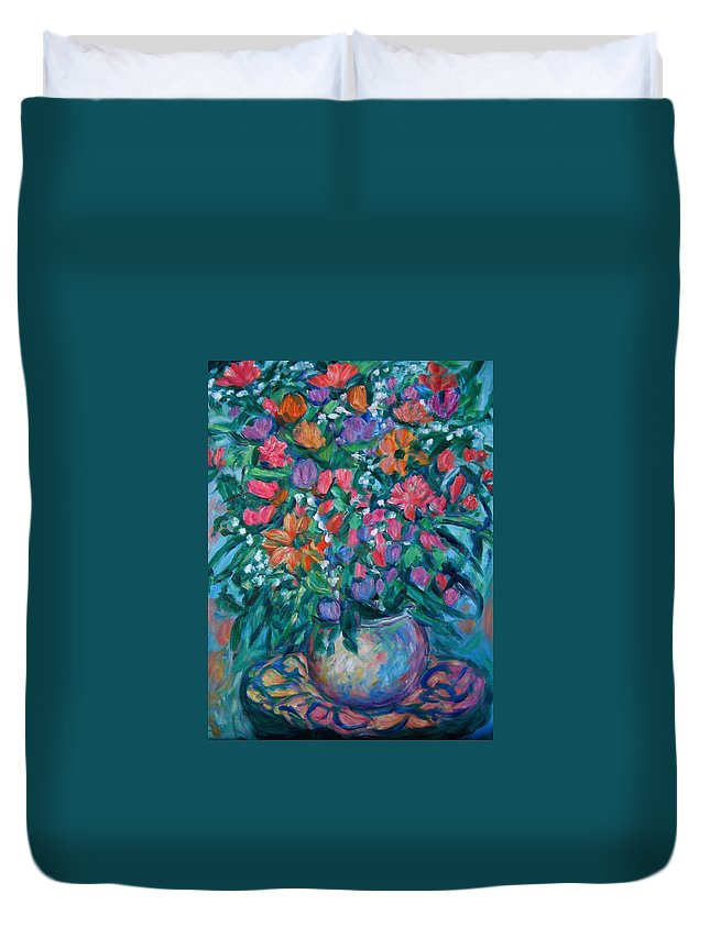 Floral Paintings Duvet Cover featuring the painting Dream Bouquet by Kendall Kessler