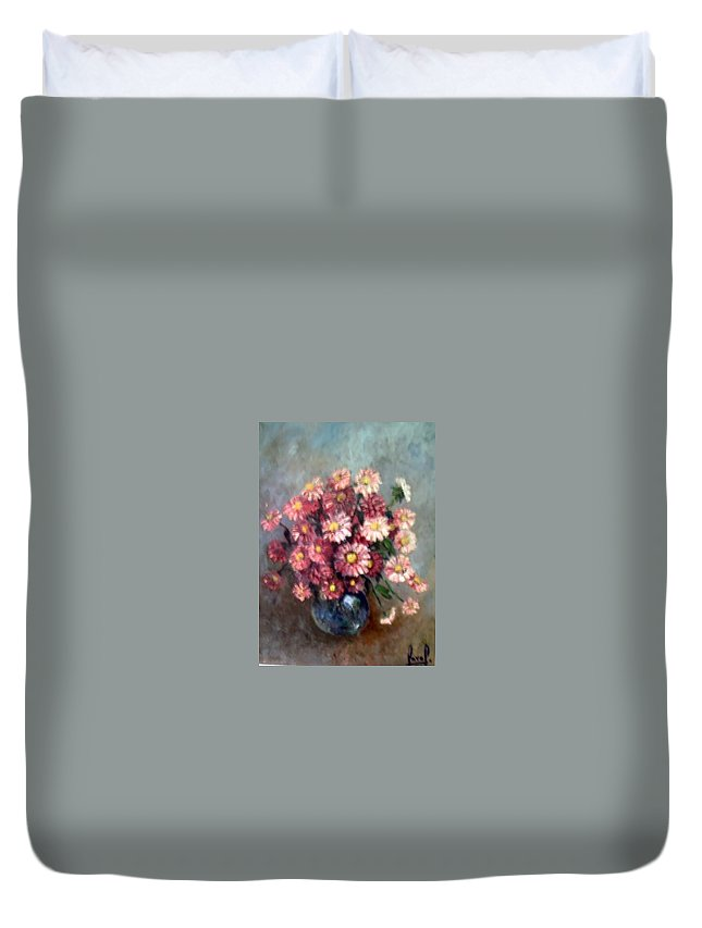 Duvet Cover featuring the painting Early Paint by Carol P Kingsley