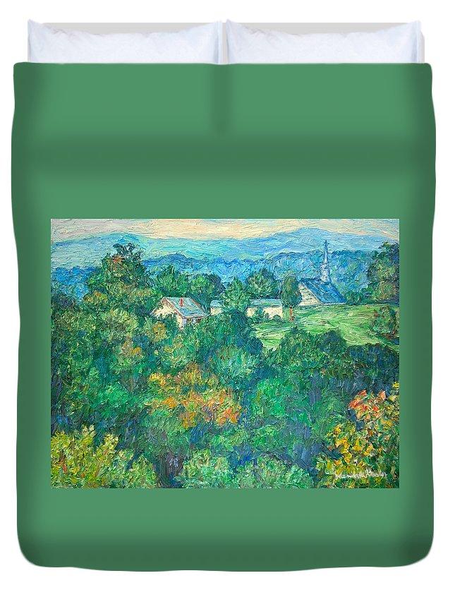 Kendall Kessler Duvet Cover featuring the painting Fairlawn Ridge by Kendall Kessler