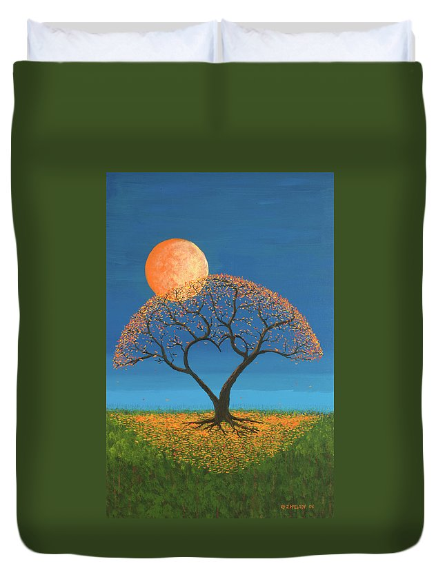 True Love Duvet Cover featuring the painting Falling For You by Jerry McElroy