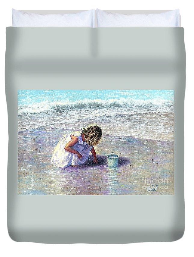 Little Girl On Beach Duvet Covers