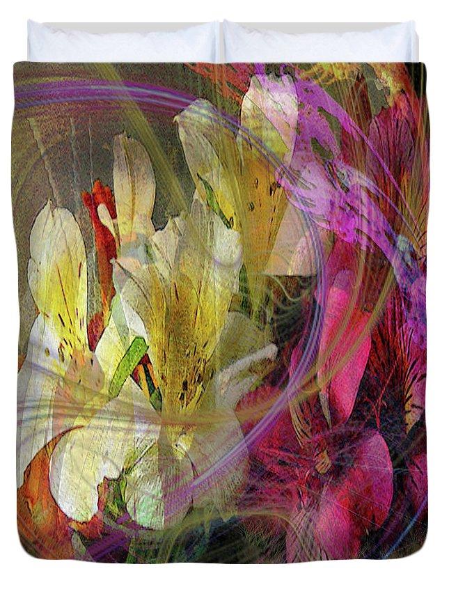 Floral Inspiration Duvet Cover featuring the digital art Floral Inspiration by John Robert Beck