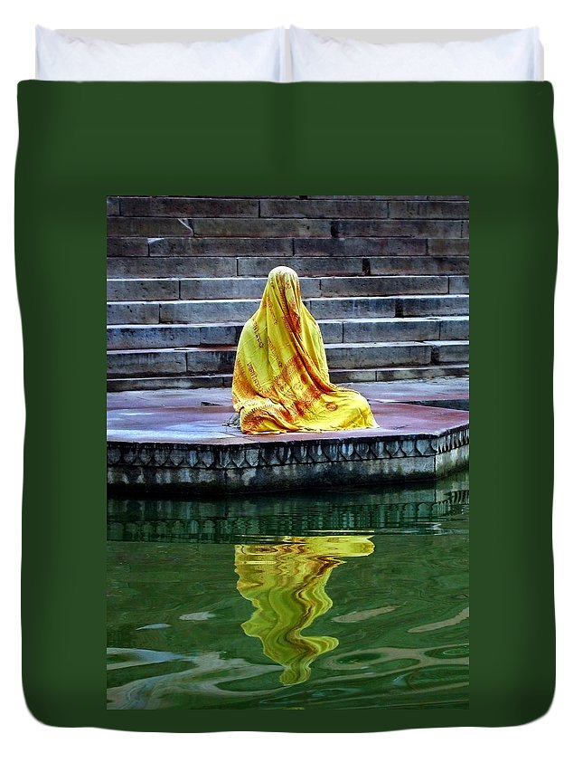 Meditate Duvet Cover featuring the photograph Ganga Dream by Skip Hunt