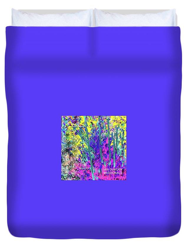 Purple Duvet Cover featuring the photograph Garden Dreams by Ian MacDonald