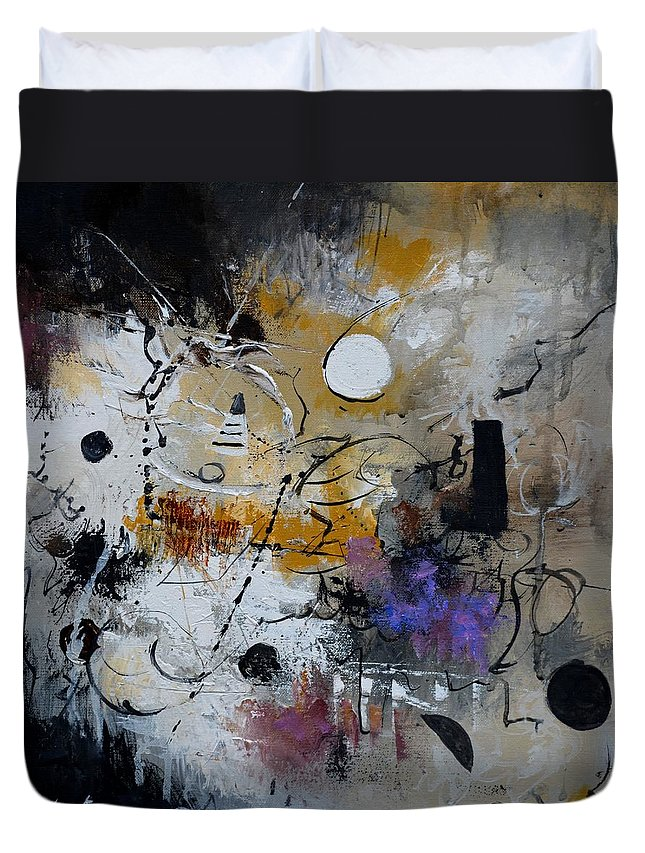 Abstract Duvet Cover featuring the painting Hamilcar s strategy by Pol Ledent