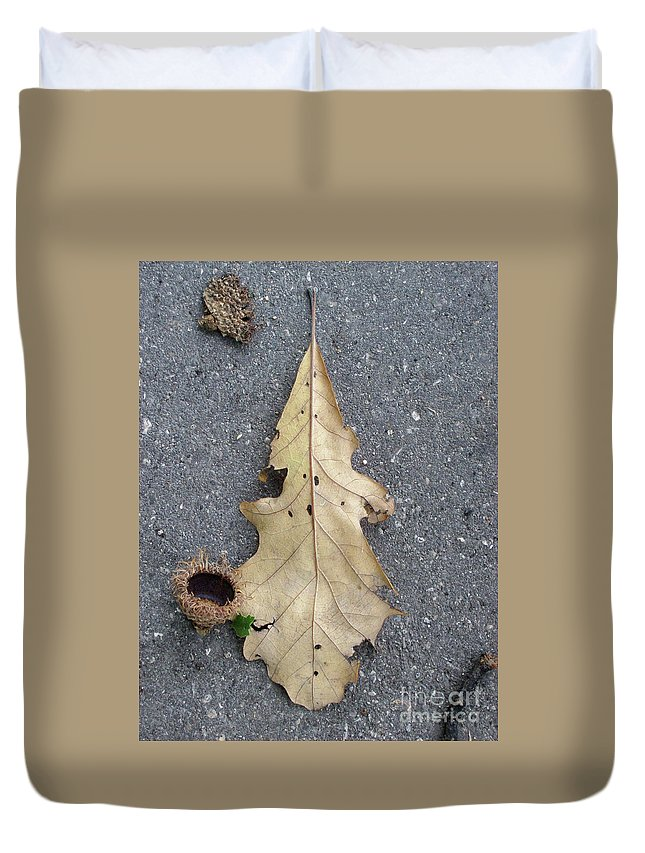 Nature Duvet Cover featuring the photograph Happenstance by Mary Mikawoz
