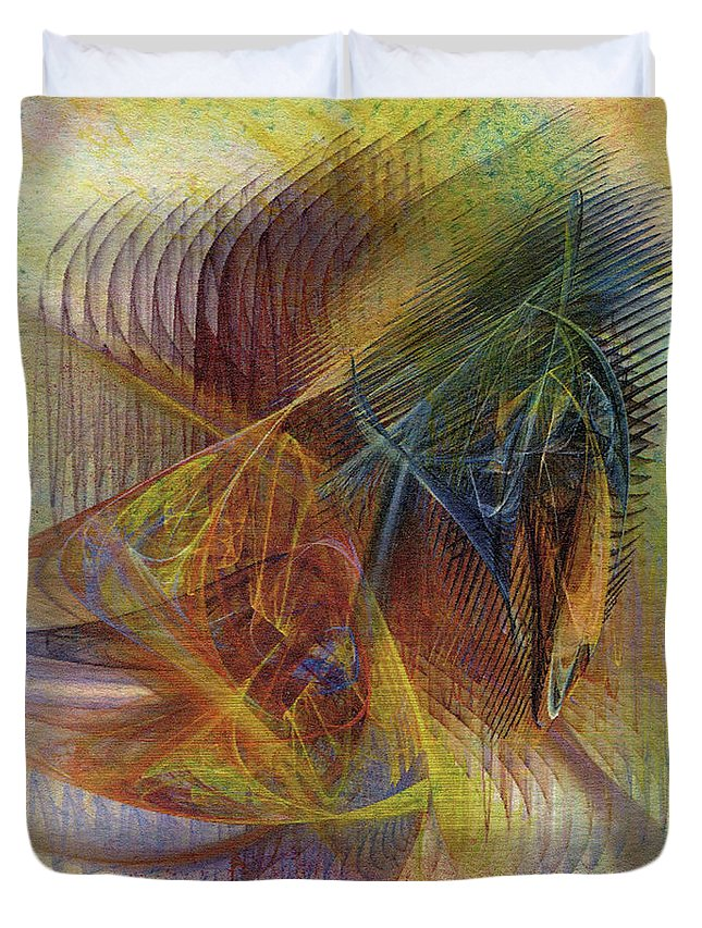 Harnessing Reason Duvet Cover featuring the digital art Harnessing Reason by John Robert Beck