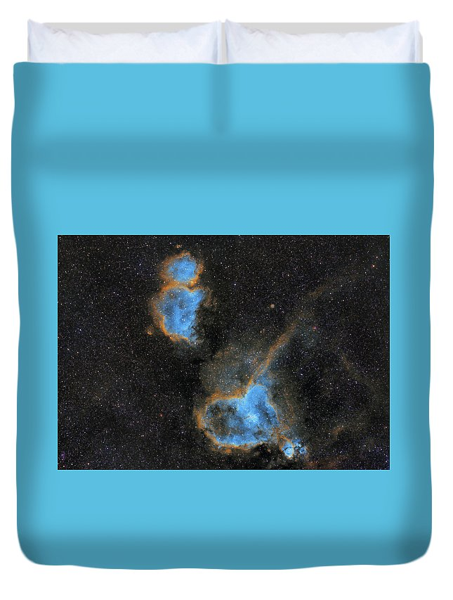 Nebula Duvet Cover featuring the photograph Heart and Soul Nebula by Prabhu Astrophotography