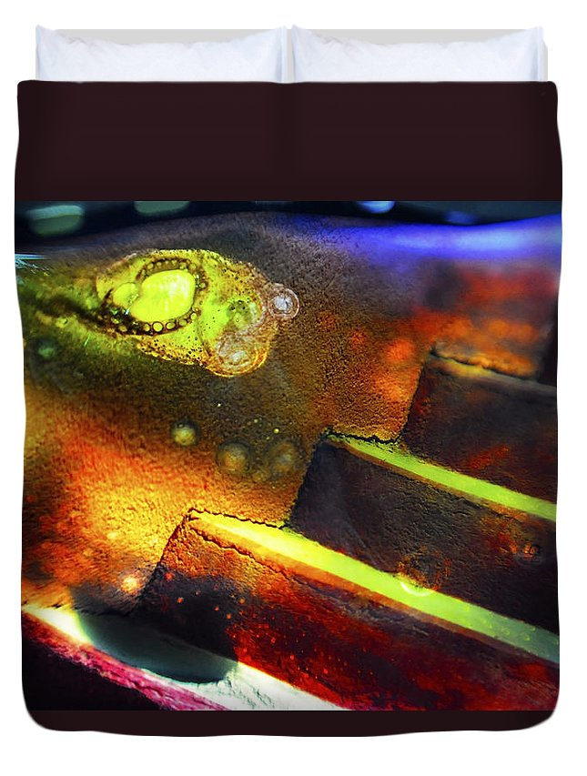 Abstract Duvet Cover featuring the photograph Heart of Glass by Skip Hunt
