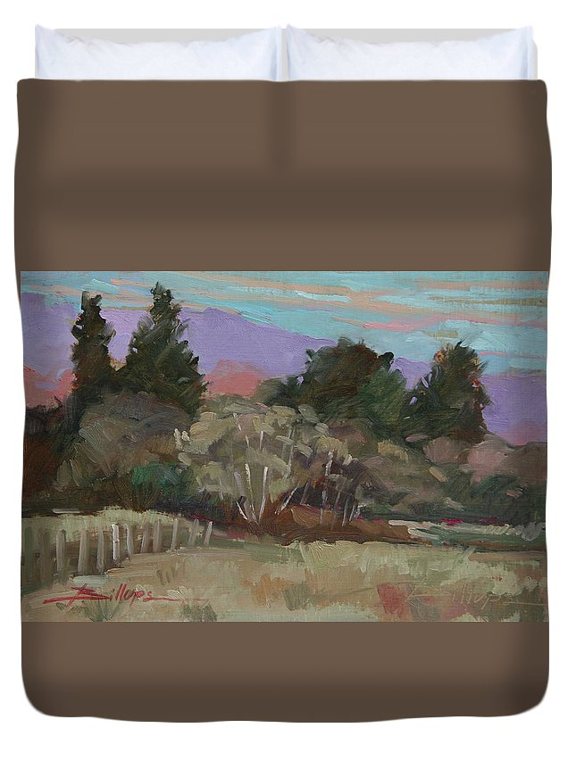 Northern California Duvet Cover featuring the painting Humbolt Fields by Betty Jean Billups