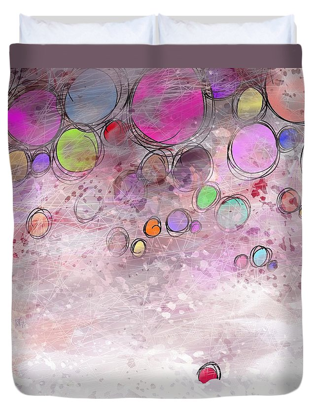 Abstract Duvet Cover featuring the digital art In a world alone by William Russell Nowicki
