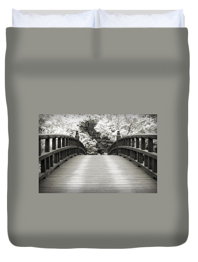 3scape Duvet Cover featuring the photograph Japanese Dream Infrared by Adam Romanowicz