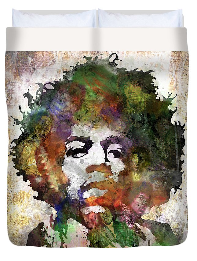 Rock And Roll Jimi Hendrix Music Duvet Covers