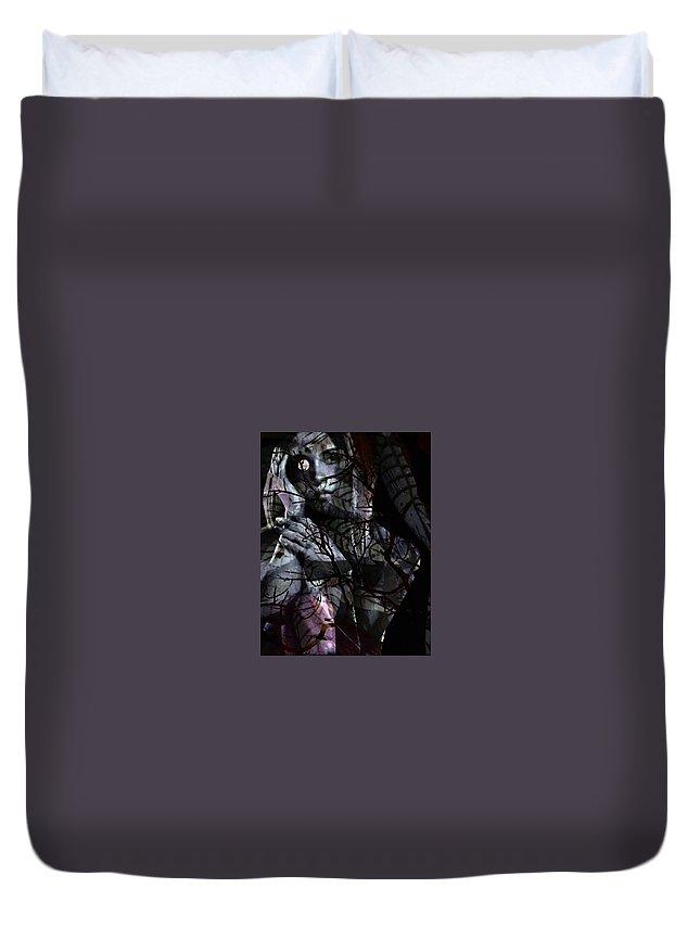 Woman Duvet Cover featuring the digital art Luna by Gunilla Munro Gyllenspetz