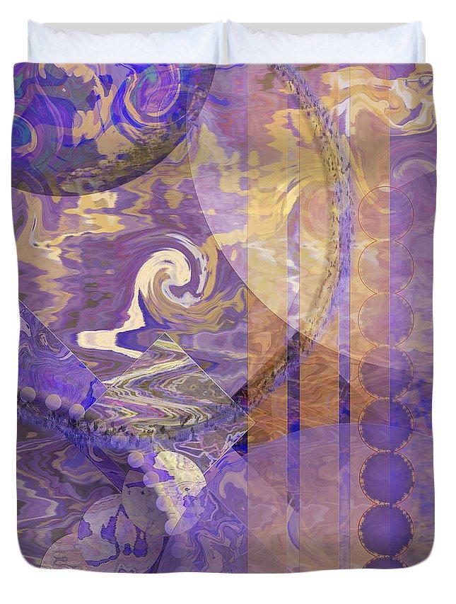 Lunar Impressions Duvet Cover featuring the digital art Lunar Impressions by John Robert Beck