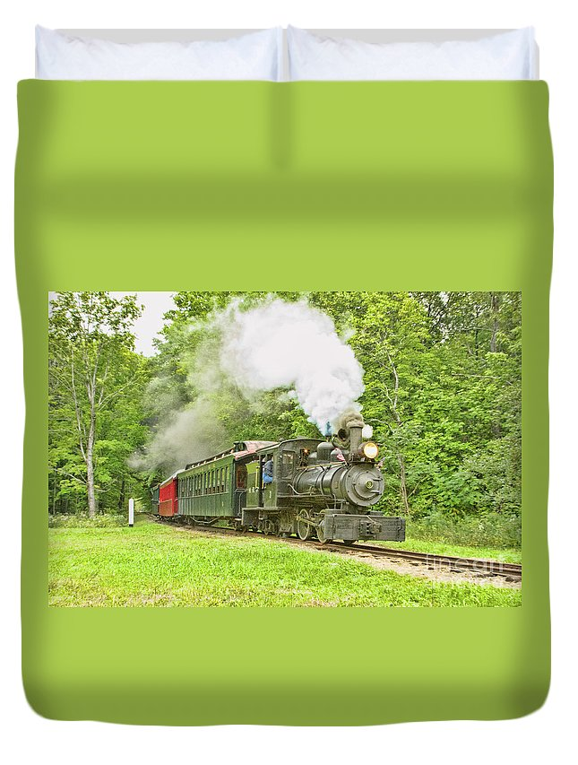 Abstracts Duvet Cover featuring the photograph Maine Coast Steam by Marilyn Cornwell