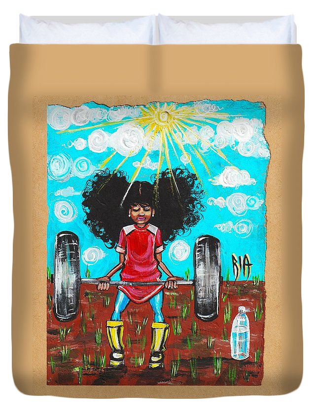 Jehovah Duvet Cover featuring the painting Mark 10 vs 27 by Artist RiA