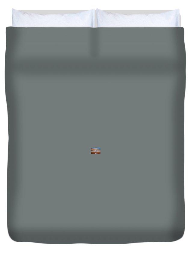 Rick Huotari Duvet Cover featuring the painting Martini In Door County by Rick Huotari