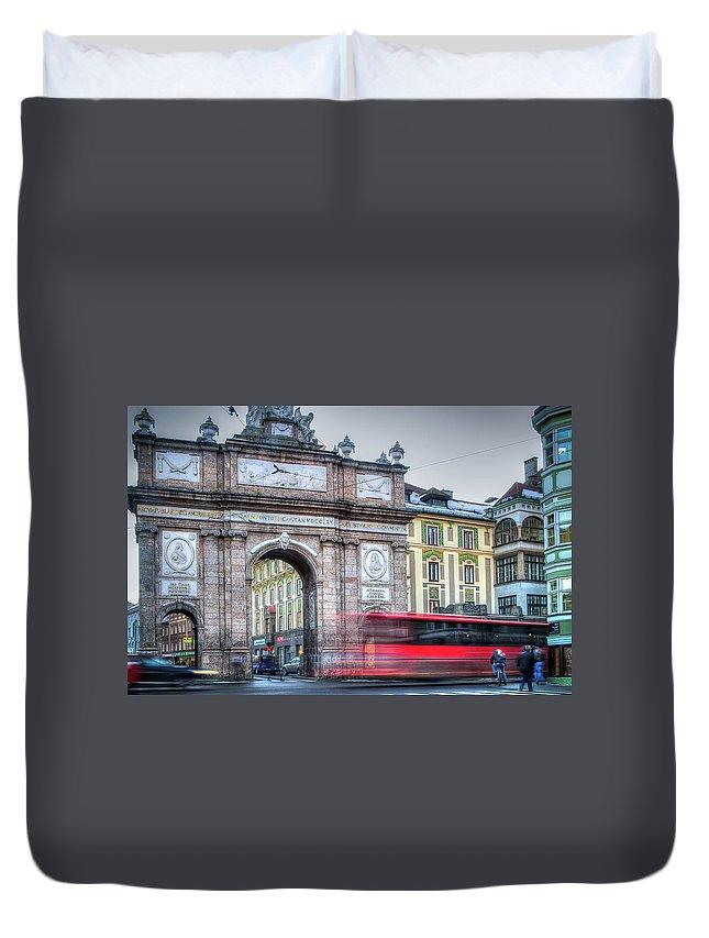 Austria Duvet Cover featuring the photograph Morning Rush by Eden Watt