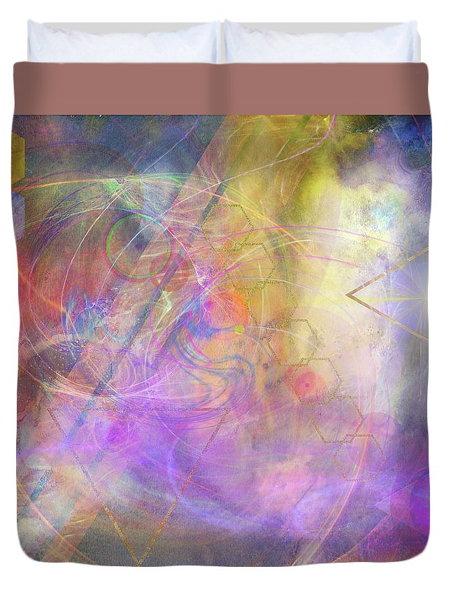 Morning Star Duvet Cover featuring the digital art Morning Star by John Robert Beck