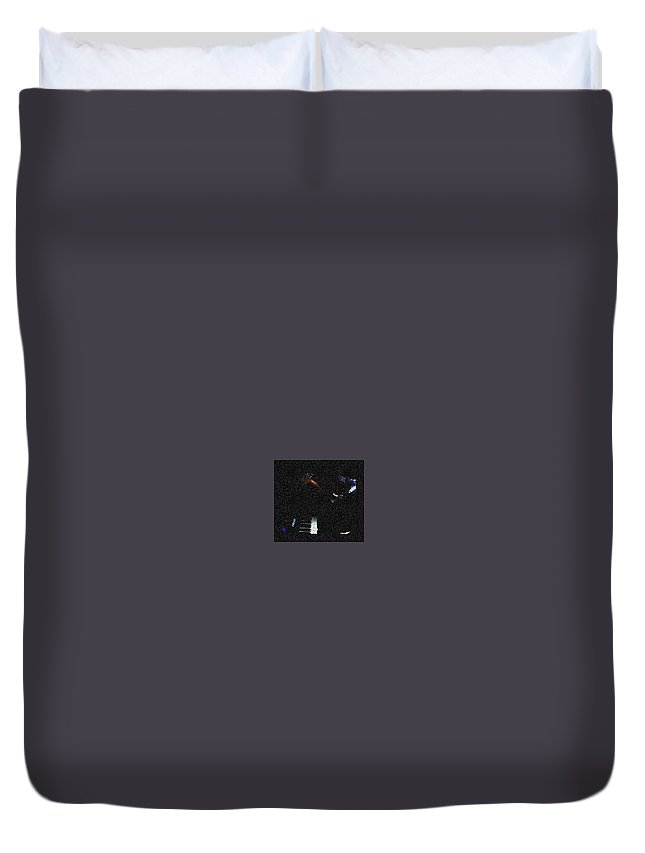 Music Duvet Cover featuring the photograph Music is Peace by Chinasa Nwaorisa