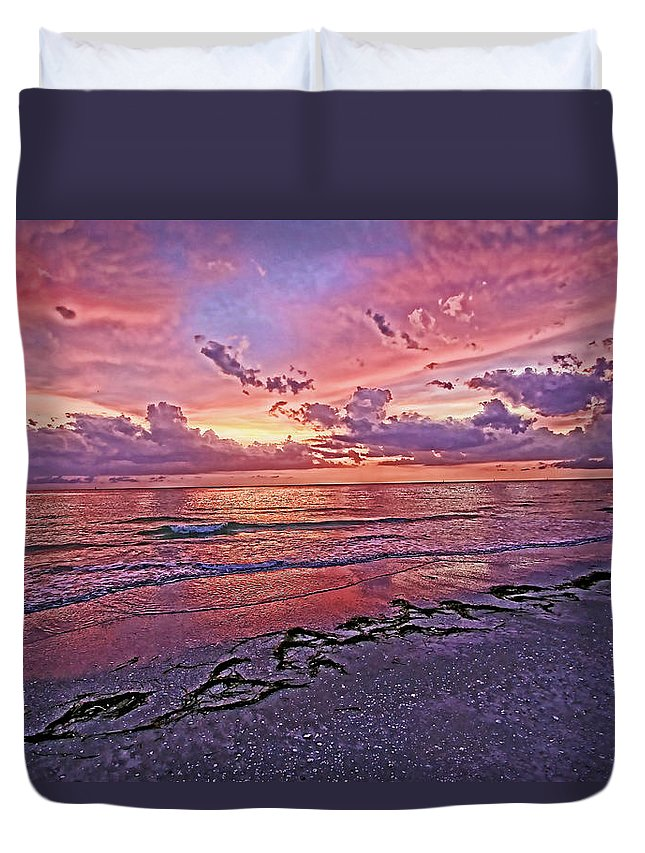 Beach Duvet Cover featuring the photograph My Oh My by HH Photography of Florida