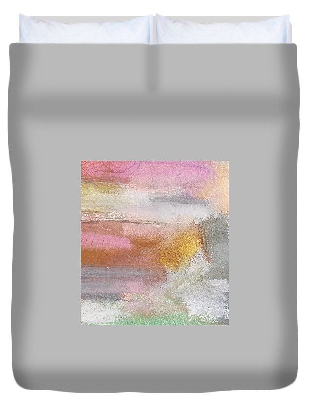Abstract Duvet Cover featuring the painting Nothing Can Dim the Light by Patricia Byron