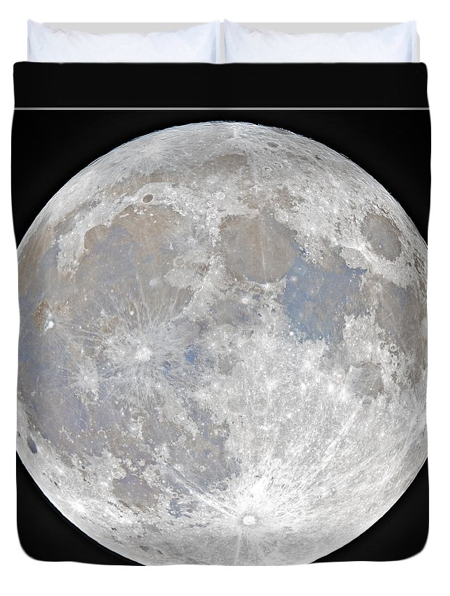Fullmoon Duvet Cover featuring the photograph October 2020 Halloween Full/Blue Moon by Prabhu Astrophotography