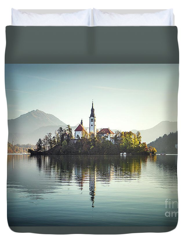 Kremsdorf Duvet Cover featuring the photograph Once Upon A Lake by Evelina Kremsdorf