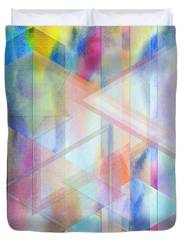 Pastoral Moment Duvet Cover featuring the digital art Pastoral Moment by John Robert Beck