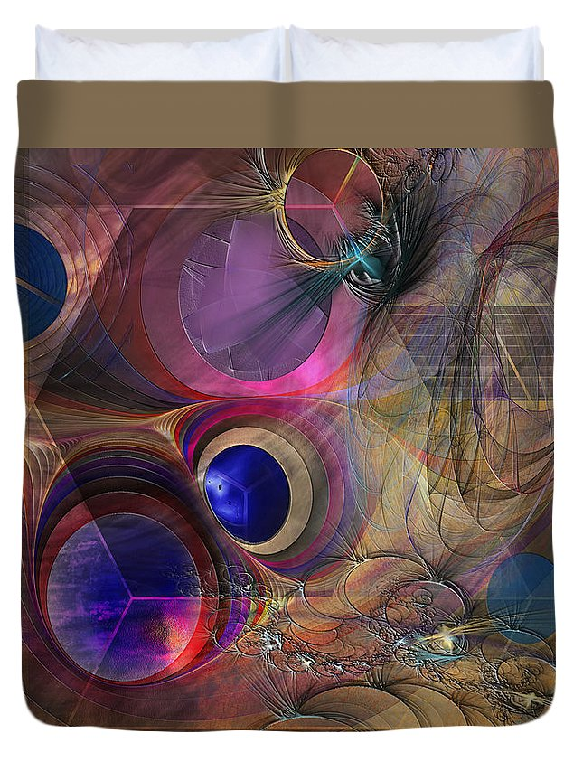 Peace Duvet Cover featuring the digital art Peace Will Come by John Robert Beck