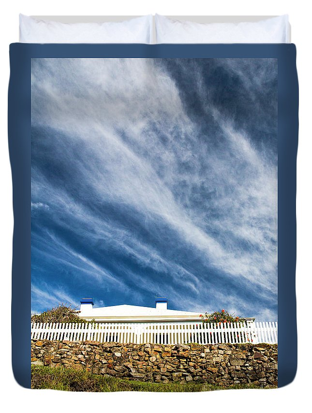 White Picket Fence Duvet Cover featuring the photograph Picket fence by Sheila Smart Fine Art Photography