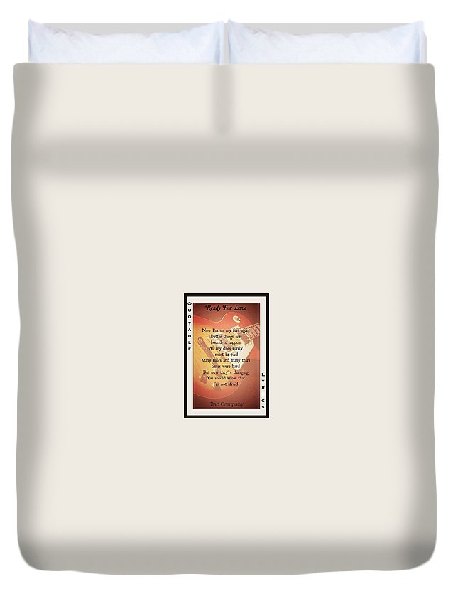 Bad Company Duvet Cover featuring the photograph Ready For Love 2 by David Norman